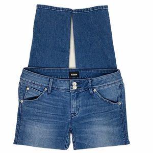 Hudson Collin Flap Skinny Crop Medium Wash Jeans